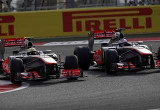 Perez Button Bahrain F1 2013 clash duel battle