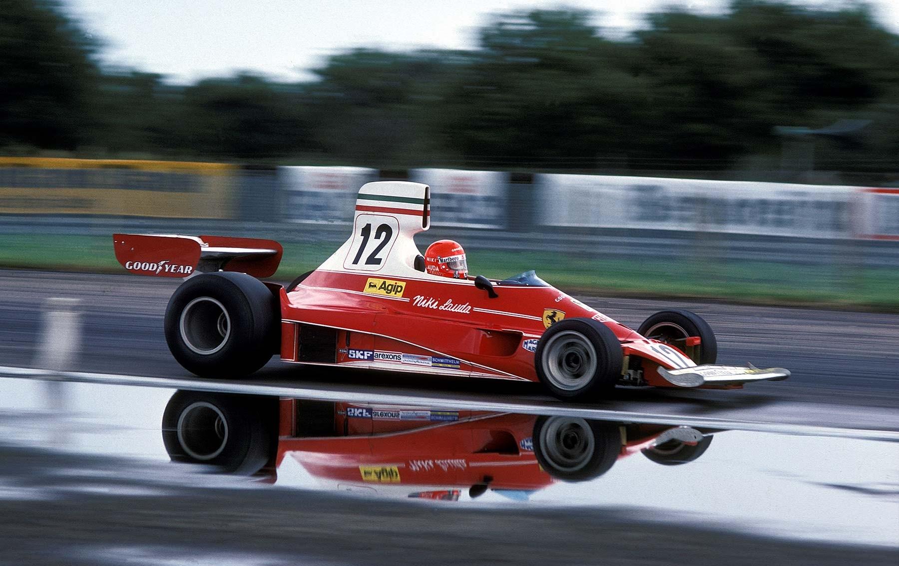 Niki Lauda u Ferrariju dominirao je 1974. na Brands Hatchu, ali ga je puknuće spriječilo da pobijedi u utrci. (20.7.1974.) Foto: pinterest