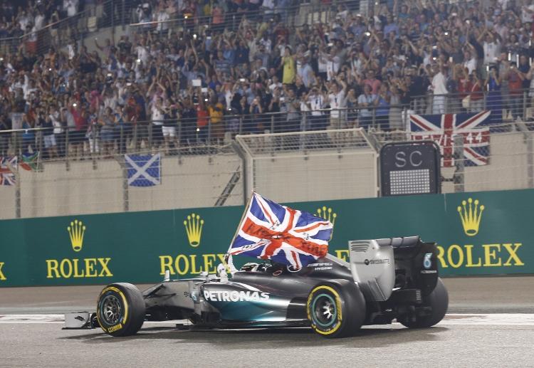 Hamilton slavi drugi naslov svjetskog prvaka pobjedom u Abu Dhabiju (23.11.2014.) Foto: Mercedes