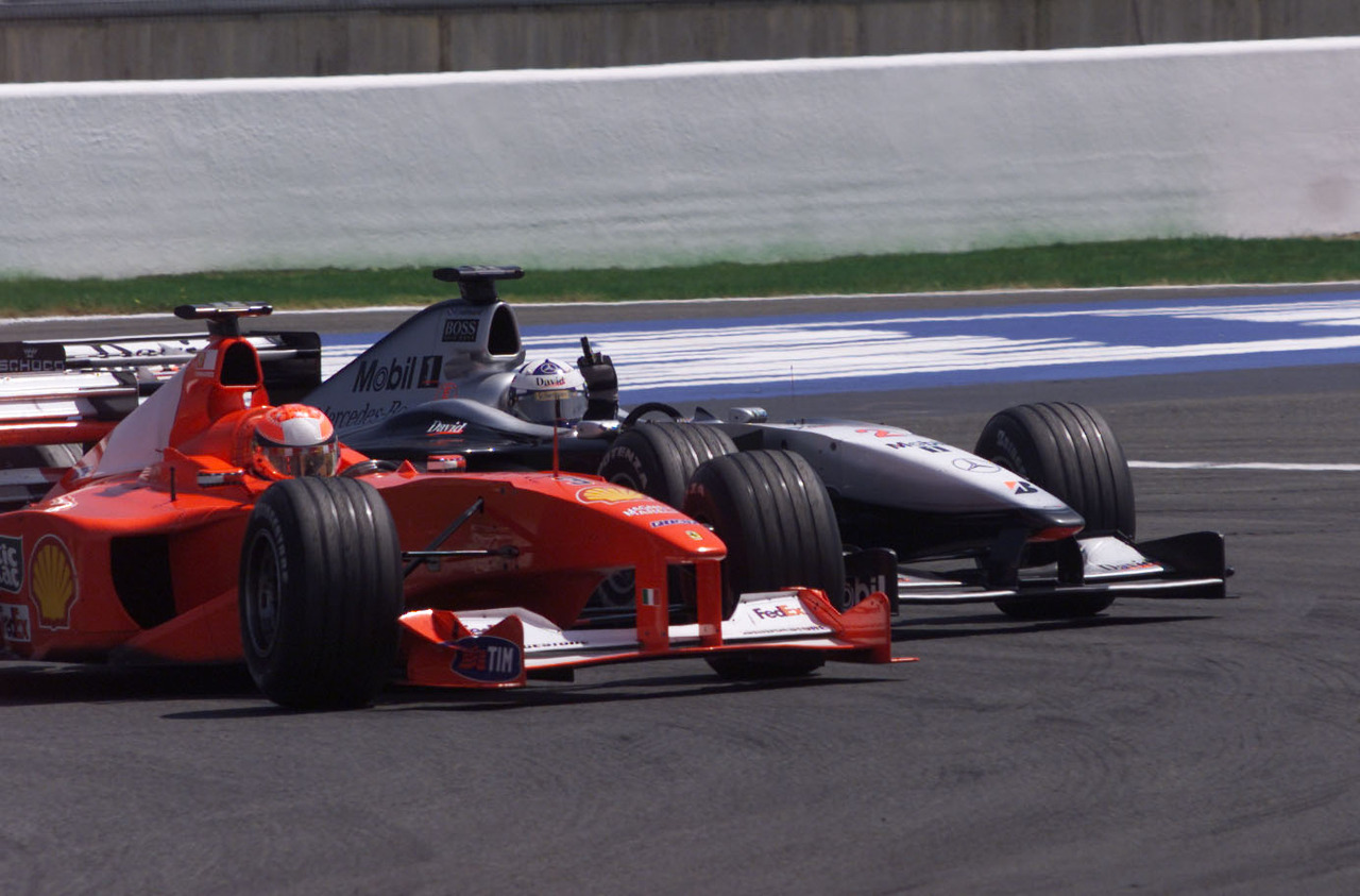 2000 french gp coulthard beats schumacher in one of his best races. Black Bedroom Furniture Sets. Home Design Ideas