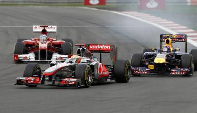 Hamilton Alonso Webber Nurburgring F1 2011 Photo F1fanatic