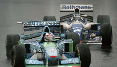 Michael Schumache and Damon Hill, Japanese GP F1 1994.