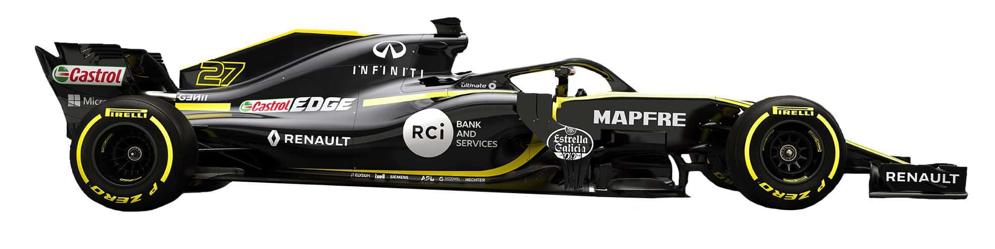 Renault RS18 F1 2018 side white studio Photo Renault MAXF1net