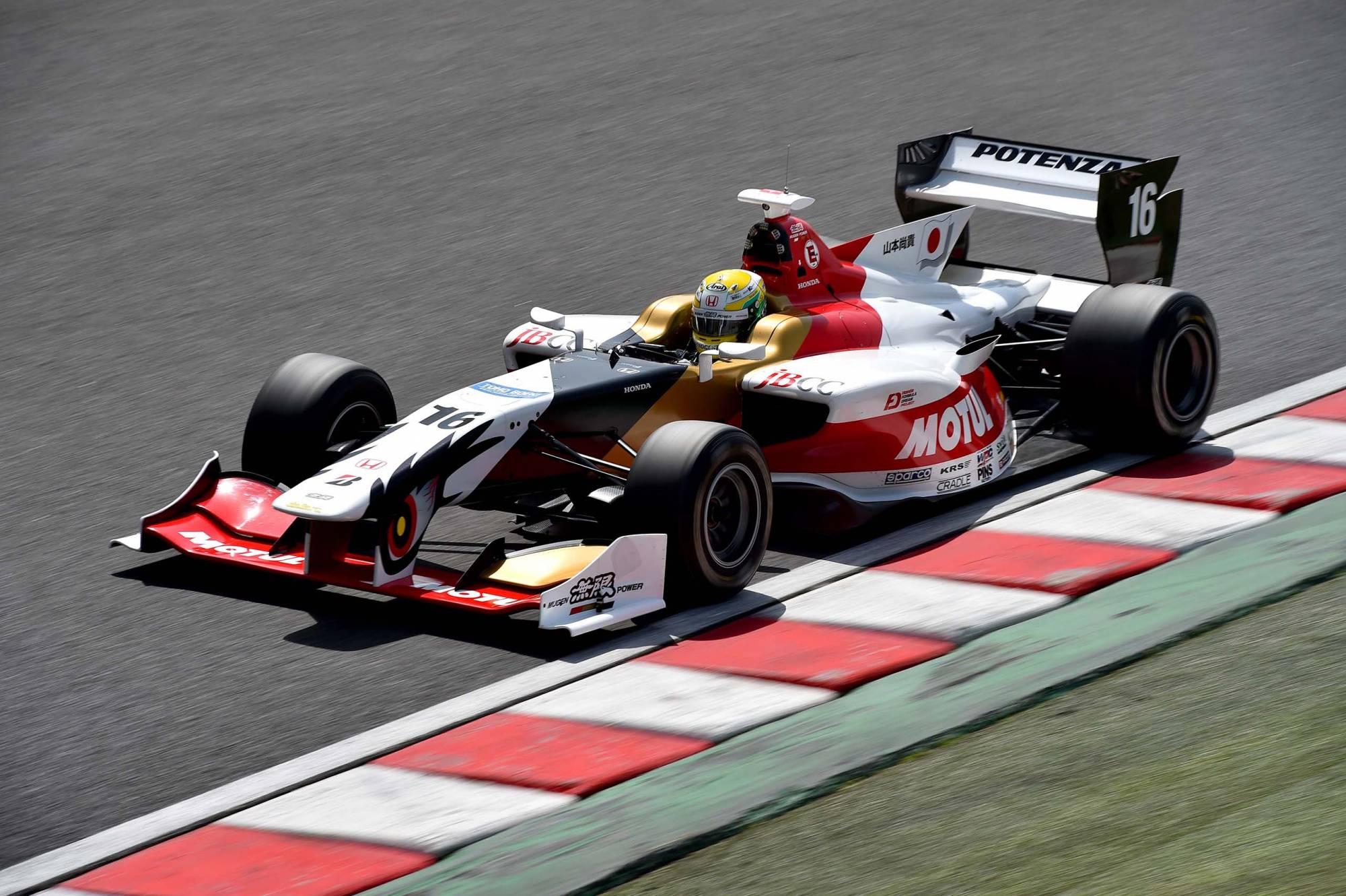 Stoffel Vandoorne Super Formula testing Suzuka 2015