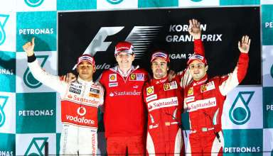 lewis-hamilton-chris-dyer-fernando-alonso-felipe-massa-korea-gp-f1-2010-podium Foto - f1fanatic