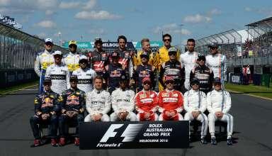 F1 drivers at Australian GP 2016