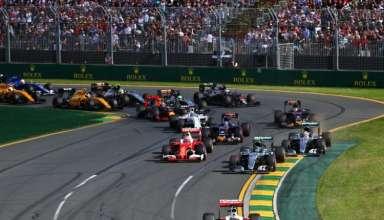 Start of the Australian GP 2016