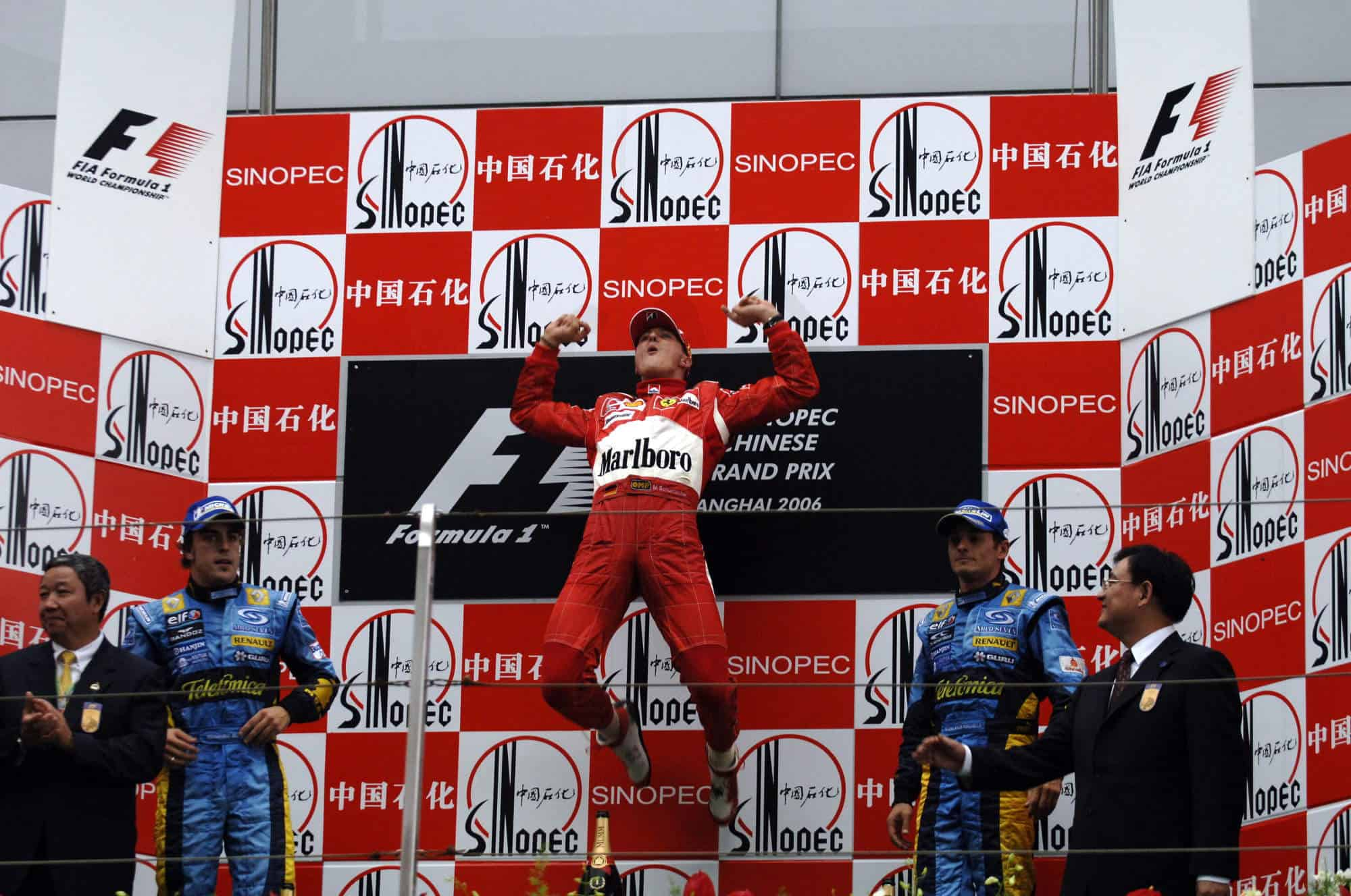 2006 Chinese GP podium Michael Schumacher last F1 win 91st Photo Ferrari