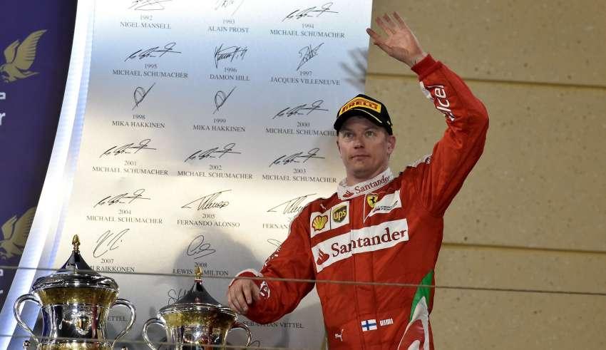 Kimi-Raikkonen-Ferrari-SF16-H-Bahrain-GP-F1-2016-Podium