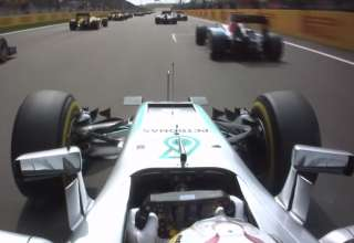 Lewis Hamilton Mercedes W07 Hybrid Chinese GP F1 2016 onboard start