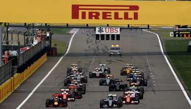 Pirelli Chinese GP F1 2016 start