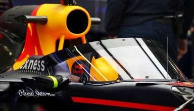 Red Bull RB12 TAG Heuer canopy test Russia GP Sochi F1 2016 Foto Autosport
