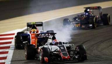 Romain Grosjean Haas VF-16 Ferrari Bahrain GP F1 2016. Race