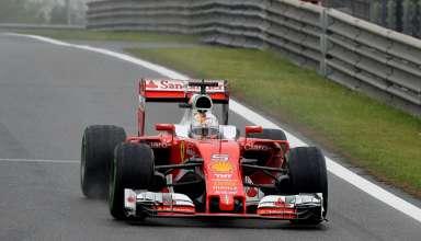Sebastian Vettel Ferrari SF16-H China GP F1 2016 third practice wet