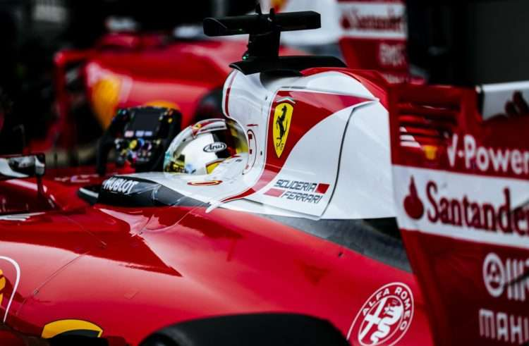 Sebastian Vettel Ferrari SF16-H Russia GP Sochi F1 2016 in the pitlane rear shot