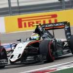 Sergio Perez Force India Mercedes VJM09 Russia GP Sochi F1 2016