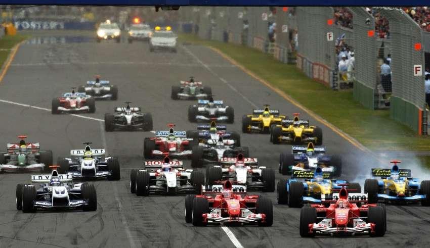 Start of the Australian GP F1 2004 Foto Ferrari