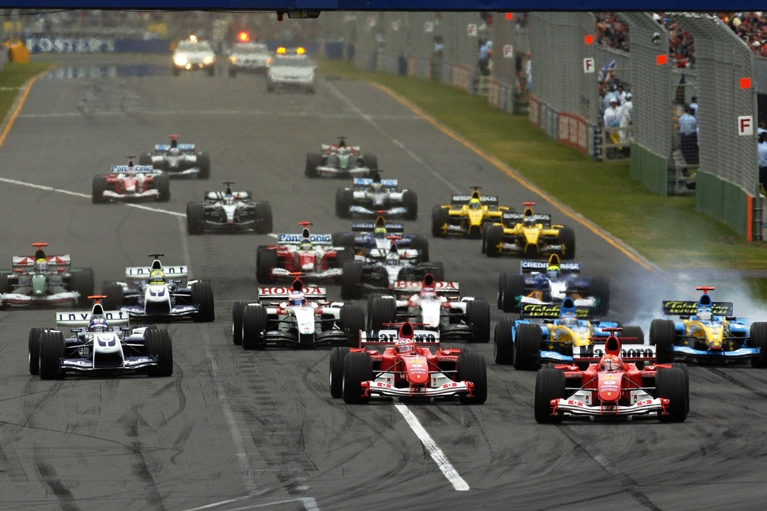 Start of the Australian GP F1 2004 Foto Ferrari