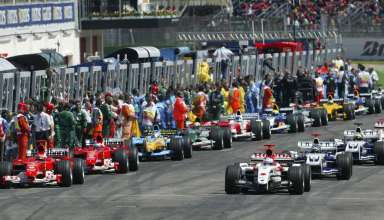 Start of the San Marino GP Imola F1 2004 foto f1fansite