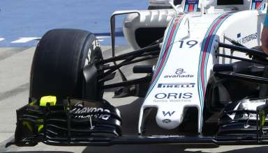 Williams FW38 new nose Bahrain GP F1 2016