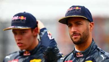 Daniil Kvyat and Daniel RIcciardo Red Bull Racing F1 2016