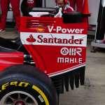 Ferrari SF16H rear wing endplate Spain GP Barcelona F1 2016 foto automotorundsport