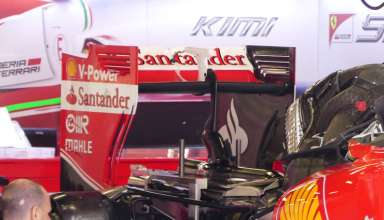 Ferrari SF16H under engine cover gearbox Spain GP Barcelona F1 2016 foto automotorundsport