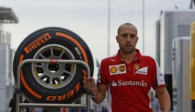 Ferrari guy Pirelli hard tyred British GP Silverstone F1 2015