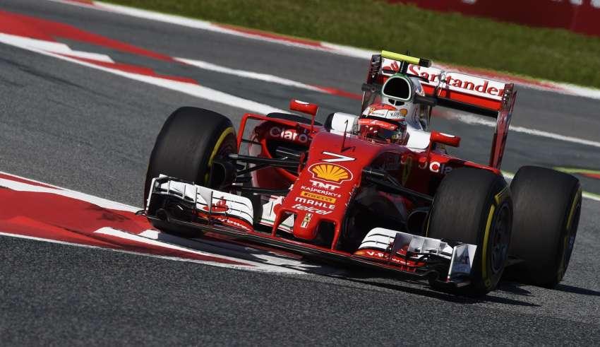 Kimi Raikkonen Ferrari SF16-H Spain GP Barcelona F1 2016 final chicane Foto Ferrari