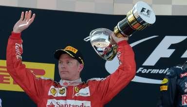 Kimi Raikkonen Ferrari SF16-H Spain GP Barcelona F1 2016 podium Foto Ferrari