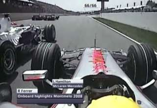Lewis Hamilton McLaren Mercedes MP4-23 onboard start Spain GP Barcelona F1 2008