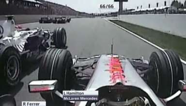 Lewis Hamilton McLaren Mercedes MP4-23 onboard start Spain GP Barcelona F1 2008