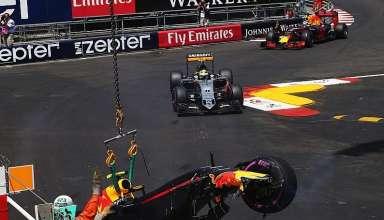 Max Verstappen Red Bull TAG Heuer RB12 Monaco GP q1 qualifying crash F1 2016 Foto Motorsport