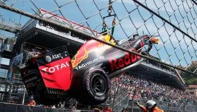 Max Verstappen Red Bull TAG Heuer RB12 Monaco GP qualy crash F1 2016 Foto Red Bull