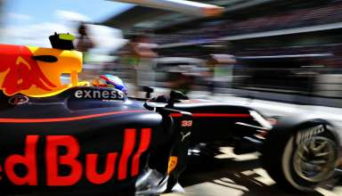 Max Verstappen Red Bull TAG Heuer RB12 garage exit Spain GP F1 2016 Foto Red Bull