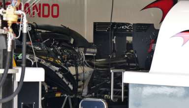 McLaren Honda MP4-31 rear end under cover left side Spain GP Barcelona F1 2016 foto automotorundsport