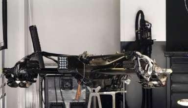 Mercedes W07 Hybrid gearbox and rear end Spain GP Barcelona foto automotorundsport