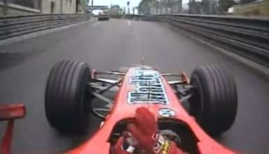 Michael Schumacher Ferrari F248 Monaco GP Onboard screenshot - youtube