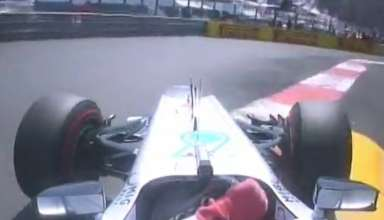 Michael Schumacher Mercedes W03 Monaco GP F1 2012 pole position onboard screenshot