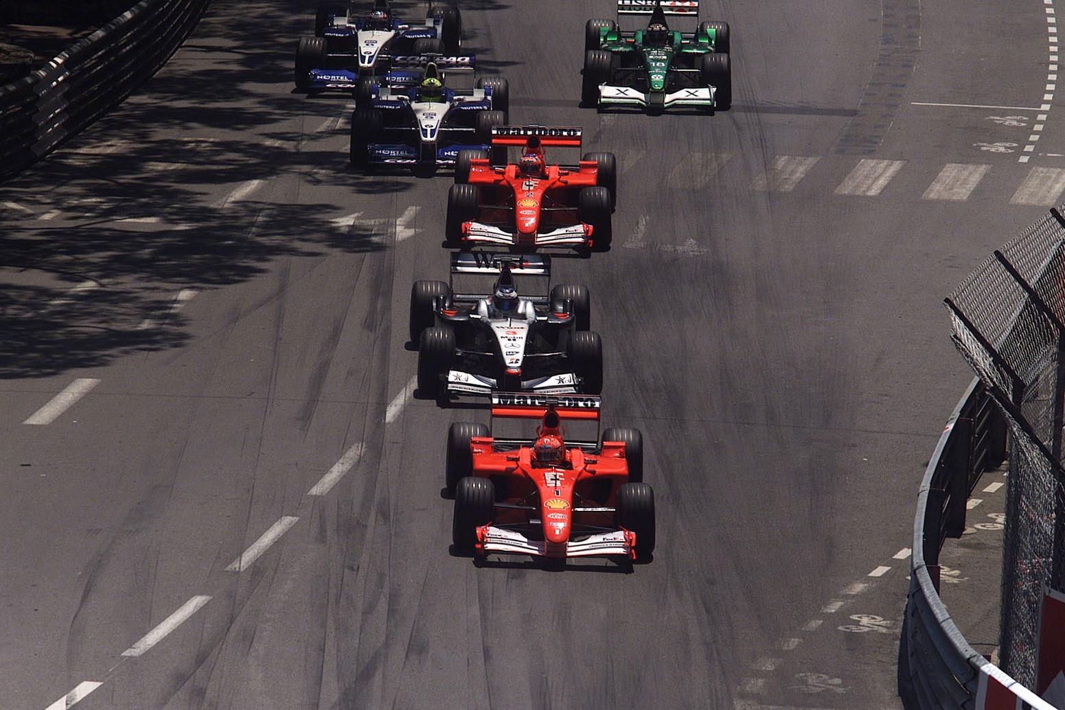 Monaco GP F1 2001 start Foto Ferrari