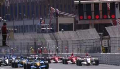Monaco GP F1 2004 start screenshot