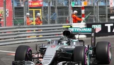 Nico Rosberg Mercedes W07 Hybrid Monaco GP F1 2016. chicane Foto Mercedes