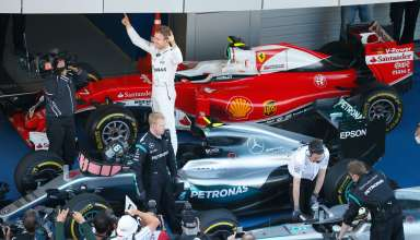 Nico Rosberg Mercedes W07 Hybrid Russia GP F1 2016 post race parc ferme celebrations Foto Mercedes