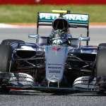 Nico Rosberg Mercedes W07 Hybrid Spain GP F1 2016 final chicane Foto Mercedes