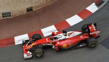 Sebastian Vettel Ferrari SF16-H Monaco GP right hand corner F1 2016 Foto Ferrari
