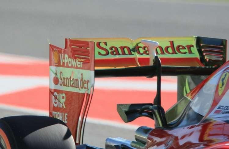 Sebastian Vettel Ferrari SF16-H Spain GP Barcelona F1 2016 rear wing floviz Foto Ferrari