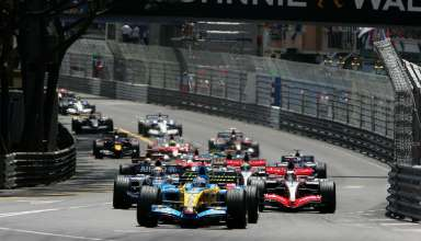 Start of the Monaco GP F1 2006 Foto Renault