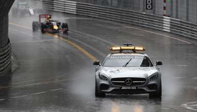 Start of the Monaco GP F1 2016 under safety car