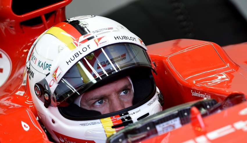Vettel helmet Ferrari Paul Ricard Pirelli F1 test january 2016