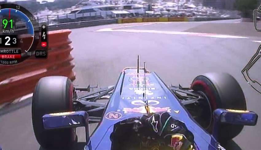 Webber onboard Monaco GP F1 2012 screenshot
